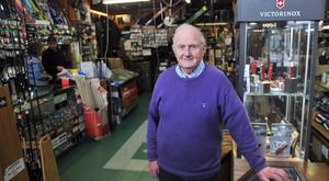 Famines, wars and council strategies: Shopkeeper John O'Connell (89) of TW Murray. Photo: Daragh Mc Sweeney/Provision
