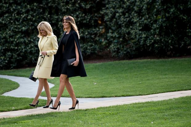 Politically correct: Brigitte Macron and Melania Trump seem to have hit it off personally and fashion-wise. Photo: AFP/Getty Images