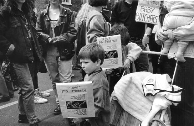 Timebomb: The X Case in 1992 brought protests to the street and referenda amending aspects of Ireland's abortion laws. Photo: Tony Gavin