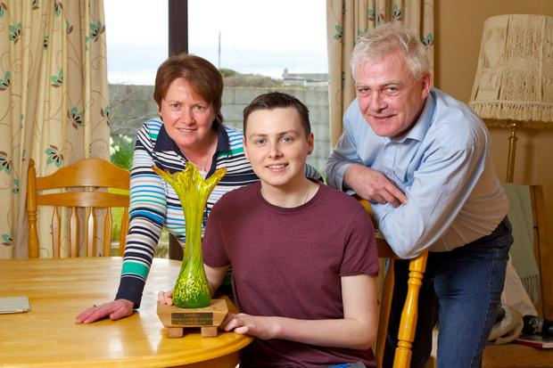 Donal and parents