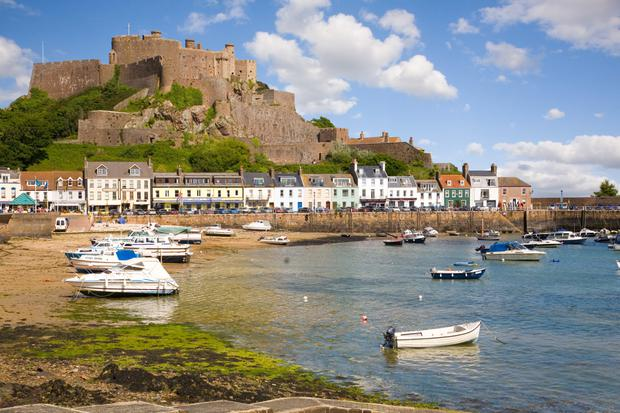 Gorey and Mont Orgueil Castle in Jersey