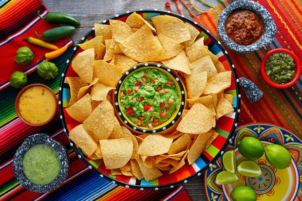 Tortilla chips. Stock Image