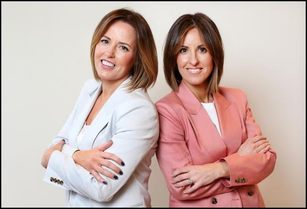 Sisters Susan-Jane Corbett (left) and Lisa Grainger own Olori boutique in Cork. Photo: Steve Humphreys