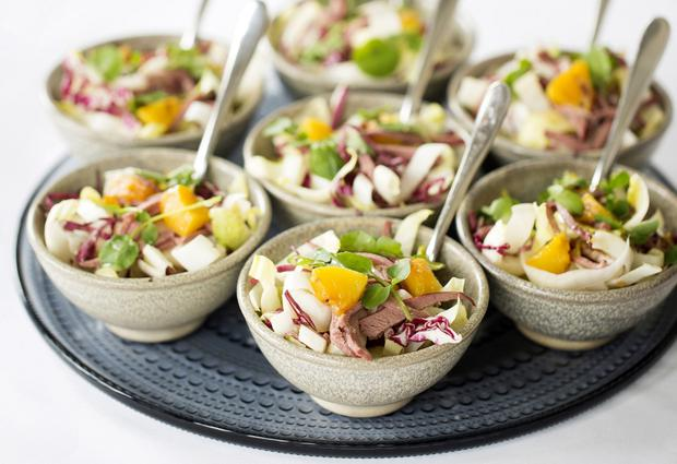 Bowl lotta love: Wedding bowls will be served while guests stand at Meghan and Harry's big day