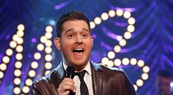 Michael Buble on stage