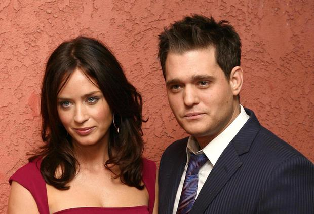 Buble and former lover Emily Blunt
