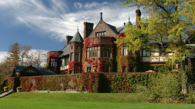 Blantyre is a red brick mansion with turrets, towers and gargoyles set in the middle of woods