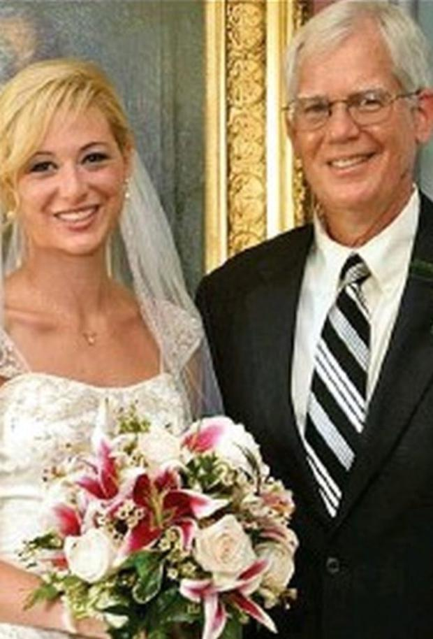 Molly Martens with her father Tom on her wedding day