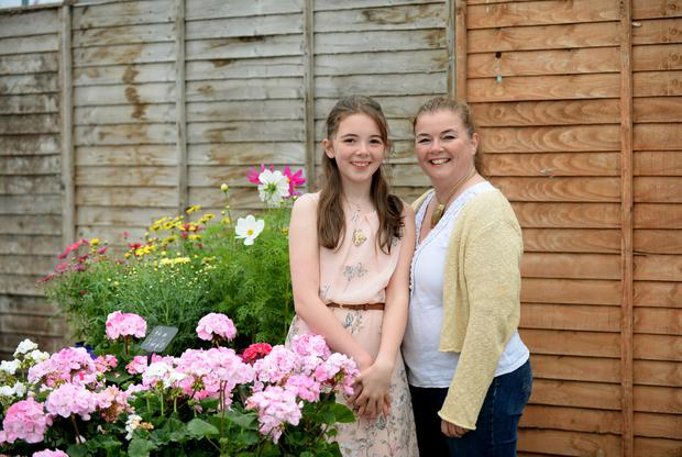 Alicia Kavanagh (12), with mother Sinead. Photo: Caroline Quinn