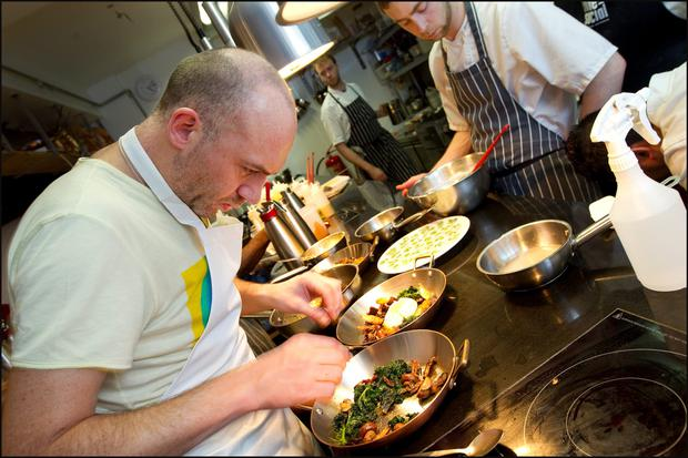 Chef Dylan McGrath in Fade Street Social