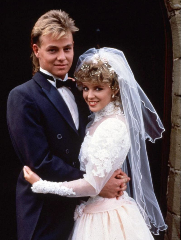 Kylie with Jason Donovan in Neighbours in 1987
