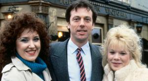 FAMILY: Leslie Grantham with Anita Dobson and Letitia Dean
