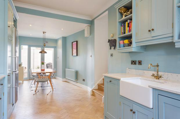 18 Oakley Road, Ranelagh, Dublin 6, is decorated in tasteful greys and soft blues