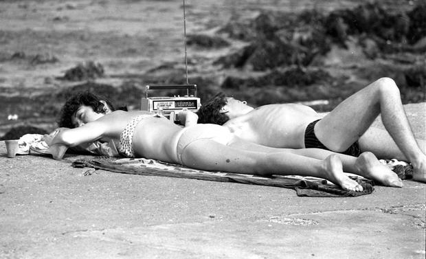 Hazy days: beaches offered a respite from the Liffey stench