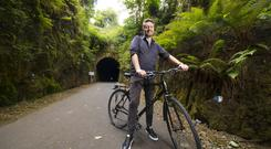 On the right track: John Meagher at the Durrow Tunnel on the Greenway. Photo: Patrick Browne