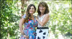 Karen Clince and her mum Mary Fitzpatrick work together in Tigers Childcare. Photo: David Conachy
