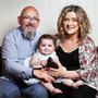 Colm and Aisling Kerr with their daughter Darci. Photo: Steve Humphreys