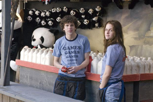 Work experience: Jesse Eisenberg and Kristen Stewart get jobs for the summer working at a local amusement park in Adventureland