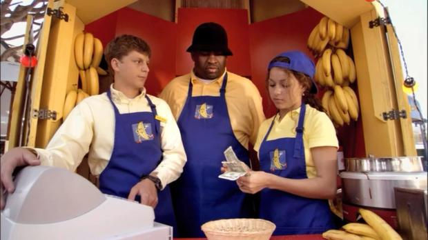 Work bearing fruit: Alia Shawkat (right) at the Banana Stand in Arrested Development