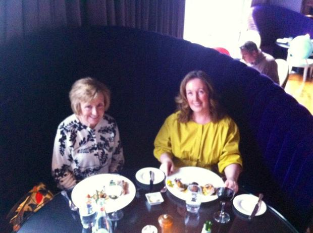 Anna (right) and her mum Claire enjoy dinner in Restaurant gigi's