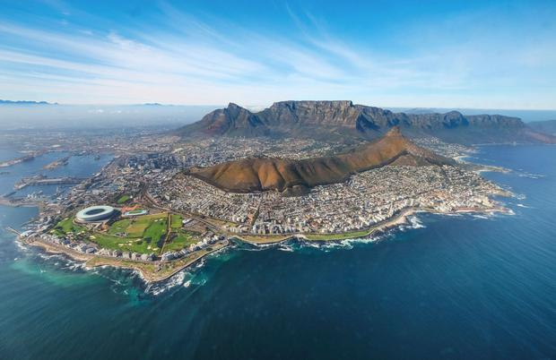 Cape Town seen from the air