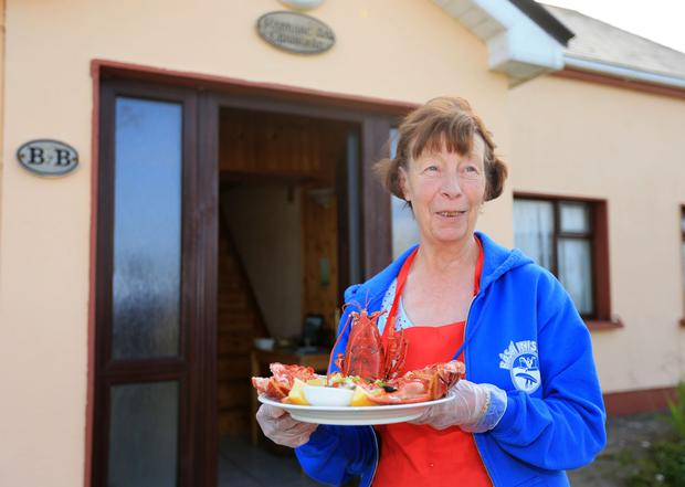 Ann Griffin of Radharc an Chaisleain restuarant on Inis Óirr. Photo: Gerry Mooney