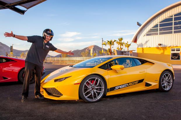 Red line a Ferrari, Lamborghini or Porsche with an instructor on hand at Speed Vegas