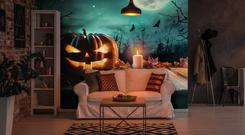 Halloween mural from Wallsauce