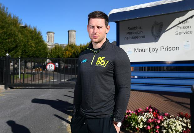 Football to the rescue: McMahon is a fitness coach and motivational speaker at Mountjoy Prison. Picture by Frank Mc Grath