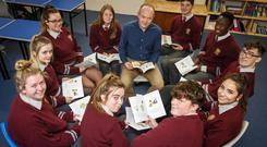 30-day challenge: students at Bishopstown Community School in Cork with teacher Alan White. Picture by Mark Condren
