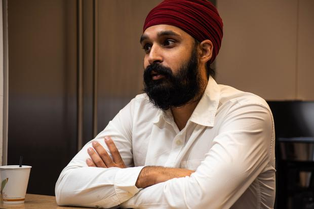 Ignorance: Simran Jeet Singh, a senior religion fellow at the Sikh Coalition in New York, says many Americans believe he is a Muslim. Picture by Ashley Mackey/News21