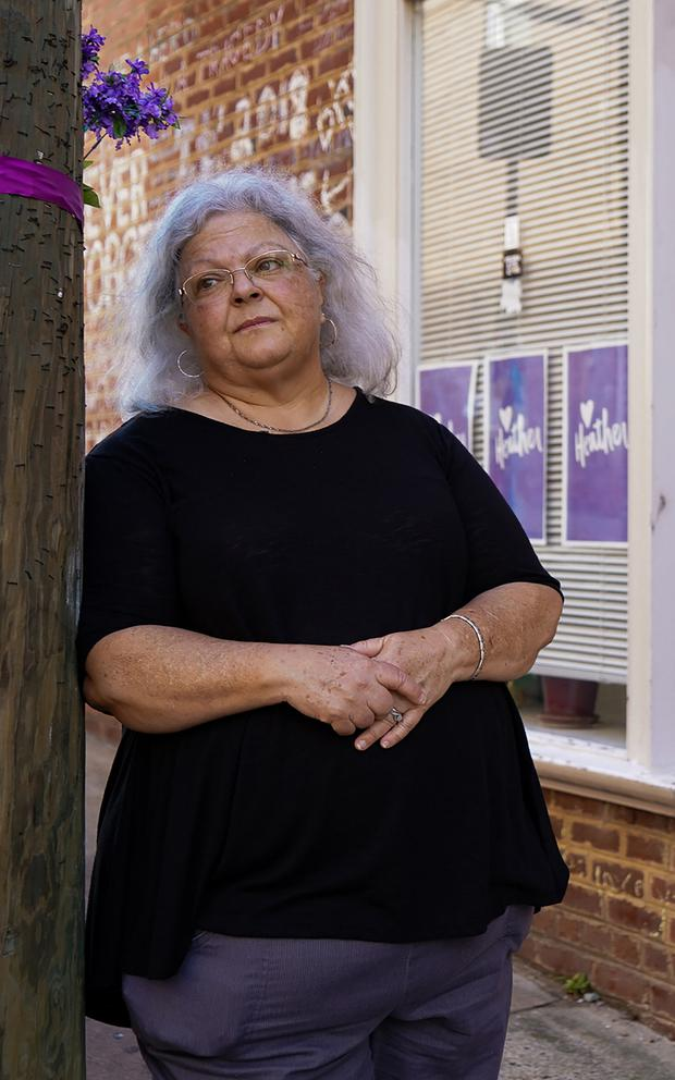 Susan Bro, whose daughter Heather Heyer died during the counter protests at the rally. Picture by Kianna Gardner/News21