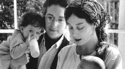 Bob's family in the early Seventies: Bob and Sara Dylan, Anna in her father's arms and Sam in his mother's arms. Jesse Dylan had by this stage learned to stand alone