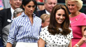 Meghan and Kate together at Wimbledon earlier this year