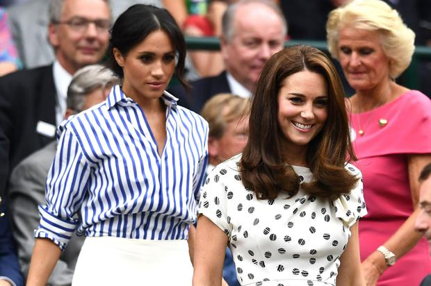 Kate Middleton and Meghan Markle arrive separately at Wimbledon