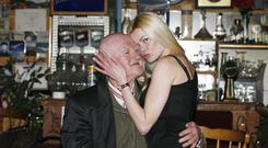 Closing time: Patsy Brogan with his partner Daria Weiske at the 'Bog Hotel' near Frosses, Co Donegal in 2010. Photo: Brian Farrell