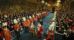 Pomp: The 2009 state opening of Parliament