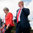 US President Donald Trump meets UK prime minister Theresa May last year