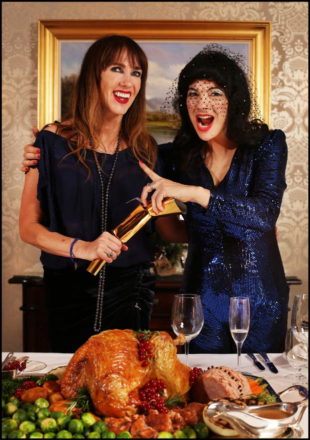 Victoria Mary Clarke and Camille O'Sullivan try to avoid the old chesnut about the Christmas cracker
