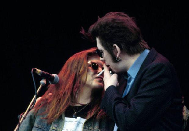 Shane with Kirsty MacColl