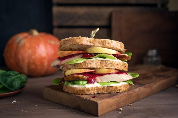 Toasting your sandwich will elevate it to a whole new comfort level, especially if it's oozing with brie or blue cheese cut with cranberry sauce and red cabbage or sauerkraut