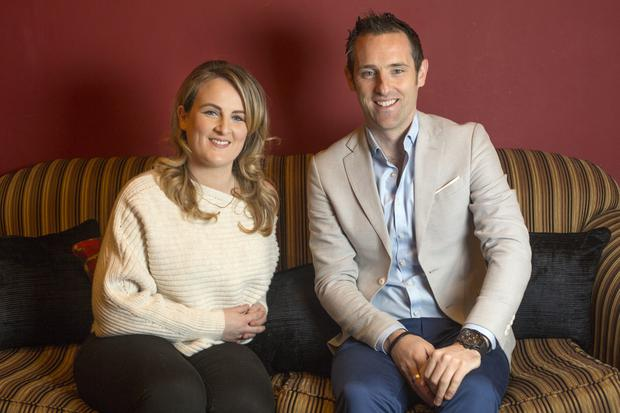 Sinead and Will Dalton both work at Virgin Media Television. Photo: Tony Gavin