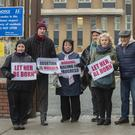 Picket: Anti-abortion protesters outside Our Lady of Lourdes Hospital in Drogheda. Picture by Ciara Wilkinson