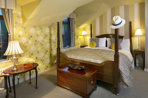 All the bedrooms are sumptuously furnished in restful colour schemes. The furnishings are a mix of purchases from local furniture shops and antique shops.