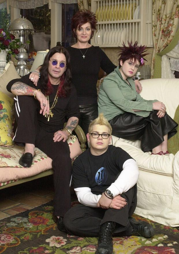 Ozzy Osbourne with wife Sharon, daughter Kelly and son Jack in the original series of The Osbournes