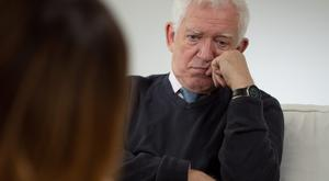 Talking to a psychotherapist can help. Photo posed