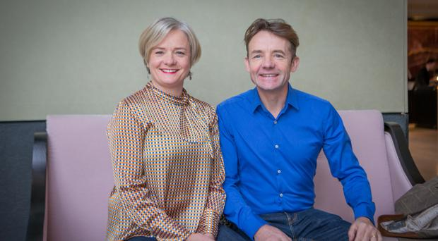 Tracy Cassidy and her husband Andrew Oates