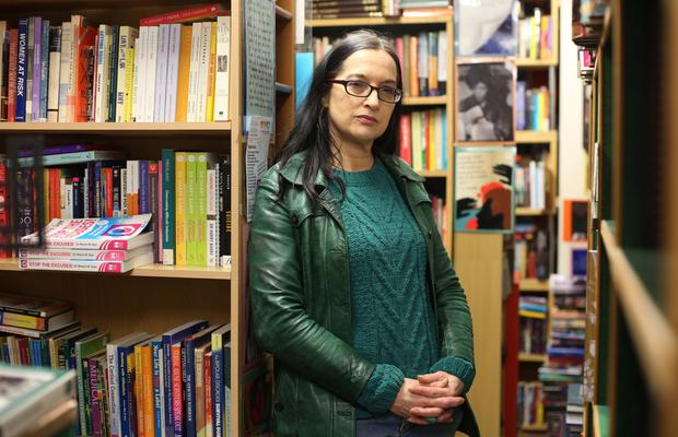 Jenni Doherty from Little Acorns bookshop in Derry. Photo: Lorcan Doherty