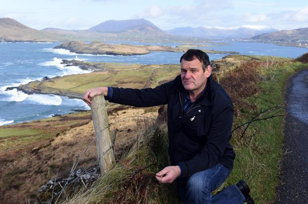 Not forgotten: Farmer Pat O'Driscoll on Valentia Island in County Kerry. Photo by Don MacMonagle