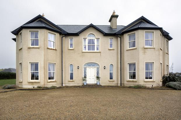 Ramona Nicholas's Georgian-style home in Co Donegal is facing the sea, and there are lovely sea views from within. The house, which comprises 4,500 square feet, has five bedrooms, all en suite